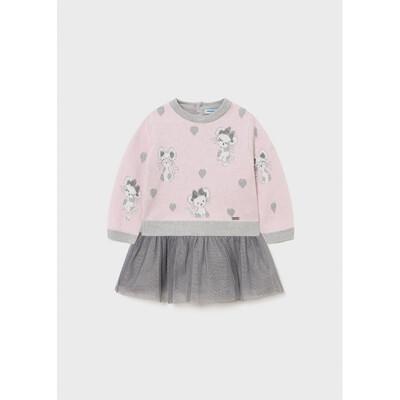 Сукня, + рожевий светер, Сірий, Mayoral Іспанія, 22OZ