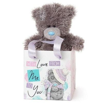 """Іграшка М'яка, Ведмедик Тедді в коробочці   """"З любов'ю"""" , 13 см, Me To You Великобританія"""