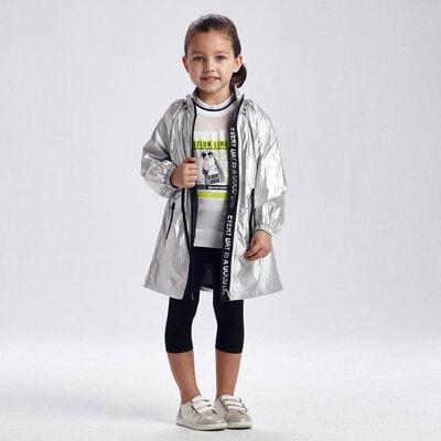 Куртка, з голографічним ефектом, Сріблястий, Mayoral Іспанія, 21VL