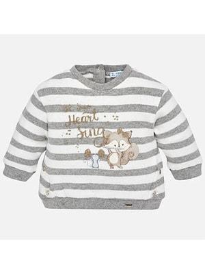 Пуловер, в білу смугу, Сірий, Mayoral Іспанія, 19OZ