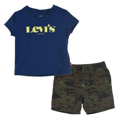 Комплект, Футболка +шорти зелені, Темно-синій, LEVI`S США, 21VL