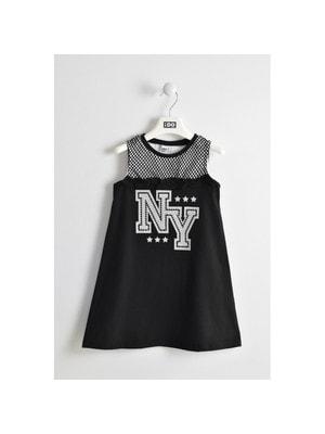 Сукня, сріблястим NY, Чорний, iDO Італія, 19VL