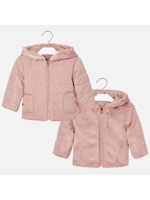 Куртка, двостороння, з капюшоном (хутро), Рожевий, Mayoral Іспанія, 20OZ