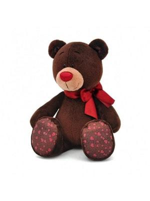 Игрушка Мягкая, Мишка Choco с красным бантиком 35 см (сидячий), ORANGE Китай