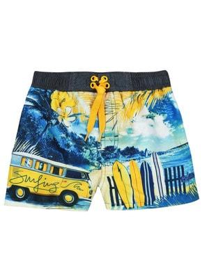 Купальний, Шорти (жовтий автобус), Синій, BOBOLI Іспанія, 19VL