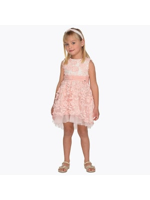 Сукня, у вишитих квітах, Рожевий, Mayoral Іспанія, 19VL