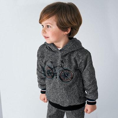 Пуловер, з капюшоном (велосипед), Темно-сірий, Mayoral Іспанія, 21OZ