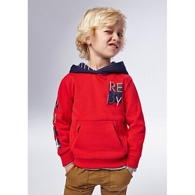 Пуловер, з капюшоном, утеплений, Червоний, Mayoral Іспанія, 22OZ