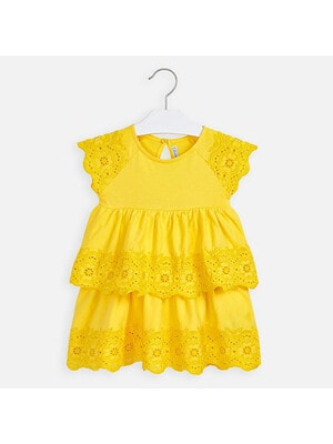 Сукня, короткий рукав, Жовтий, Mayoral Іспанія, 20VL