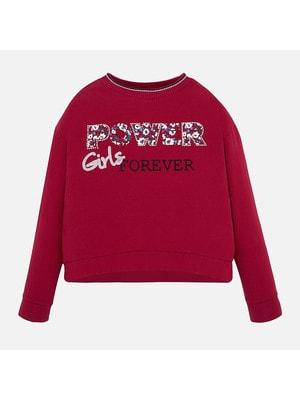 Пуловер, (сріблястим Girls), Червоний, Mayoral Іспанія, 20OZ