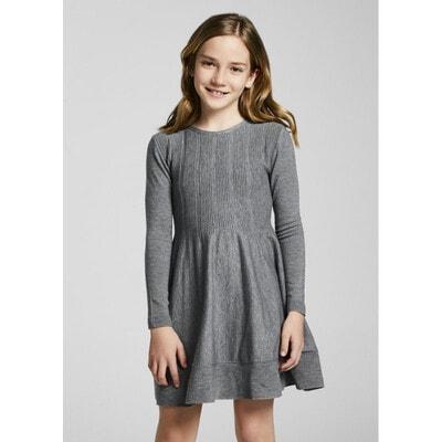 Сукня, довгий рукав, Сірий, Mayoral Іспанія, 22OZ