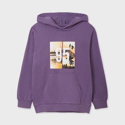 Пуловер, з капюшоном, Бузковий, Mayoral Іспанія, 21VL