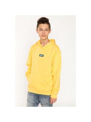 Пуловер, з капюшоном (утеплений), Жовтий, Reporter young Польща, 21VL