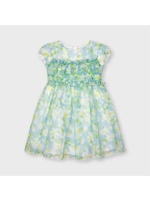 Сукня, в квітах, Блакитний, Mayoral Іспанія, 21VL