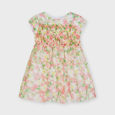 Сукня, в квітах, Рожевий, Mayoral Іспанія, 21VL
