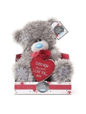 Іграшка М'яка, Ведмедик Тедді з трояндочками та серцем, 23 см, Me To You Великобританія