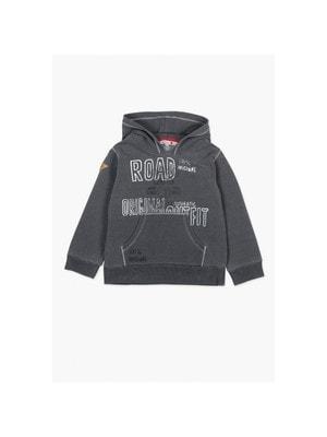 Пуловер, з капюшоном, Сірий, BOBOLI Іспанія, 19VL
