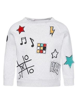 Пуловер, (хрестики нолики, PLAY), Сірий, TucTuc Іспанія, 20OZ