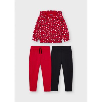 Комплект, Кофта + штани 2 шт., утеплений, Червоний, Mayoral Іспанія, 22OZ