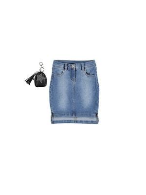 Спідниця, джинсова + сумочка з зіркою, Синій, iDO Італія, 19VL