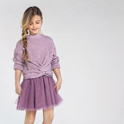 Комплект, Светр + сукня, Рожевий, Mayoral Іспанія, 21OZ