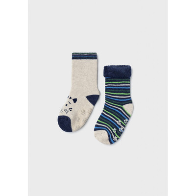 Шкарпетки, 2 пари (утеплені), Бежевий, Mayoral Іспанія, 22OZ