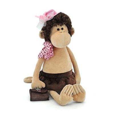 Іграшка М'яка, Мавпа в шапці та з сумкою 55см, ORANGE Китай