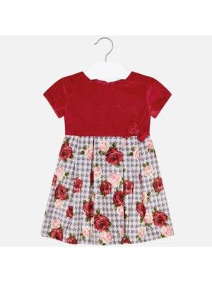 Сукня, короткий рукав (знизу квіти), Червоний, Mayoral Іспанія, 20OZ