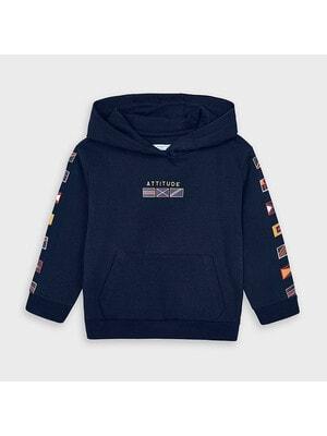 Пуловер, з капюшоном, Темно-синій, Mayoral Іспанія, 21OZ