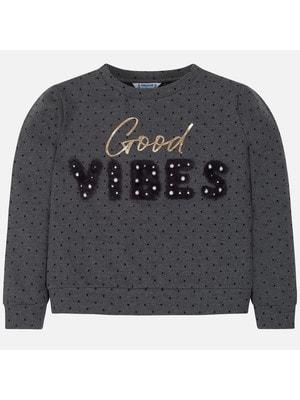 Пуловер, в чорний горошок (VIBES), Темно-сірий, Mayoral Іспанія, 20OZ