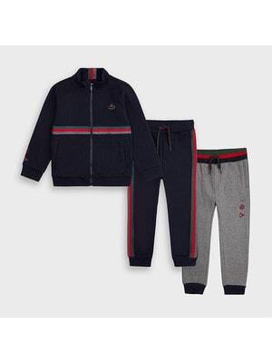 Комплект Спортивный, Кофта + штаны 2 шт. (1 - серые), Темно-синий, Mayoral Испания, 21OZ