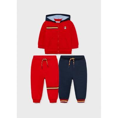 Комплект Спортивний, Кофта + штани 2 шт. (1 - сині), утеплений, Червоний, Mayoral Іспанія, 22OZ