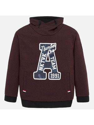 Пуловер, з капюшоном (А 1991), Бордовий, Mayoral Іспанія, 20OZ