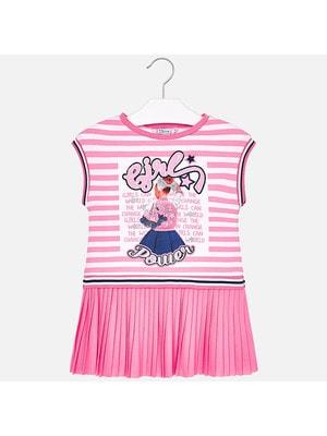 Сукня, верх в білу смугу, Рожевий, Mayoral Іспанія, 19VL