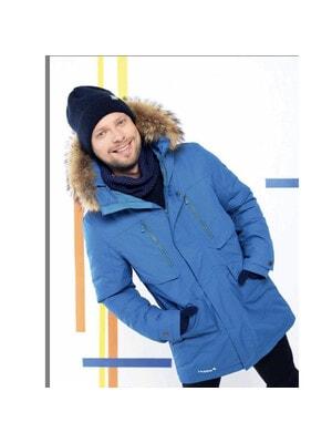 Куртка, з капюшоном (натуральне хутро)  DAVID 1, Cиній, HUPPA Естонія, 21OZ