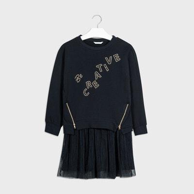 Комплект, Пуловер + сукня, Темно-синій, Mayoral Іспанія, 21OZ