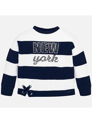 Пуловер, в білу смугу, Темно-синій, Mayoral Іспанія, 20OZ