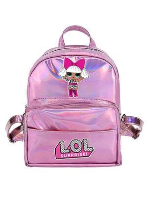 Рюкзак мини с голографическим эффектом LOL DOLL, Розовый, MGA США, 20VL
