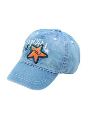 Головний убір Кепка, джинсова (помаранчева зірка), Синій, BOBOLI Іспанія, 19VL