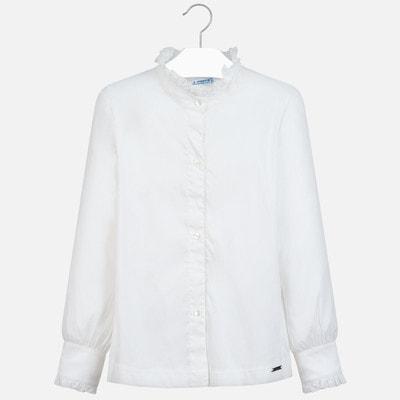 Блуза, довгий рукав, Кремовий, Mayoral Іспанія, 20OZ