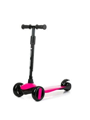 ІГРАШКА Самокат, Crosser (фіксація колес, регулюється висота ручки, світло), Рожевий, Babyhit Польща