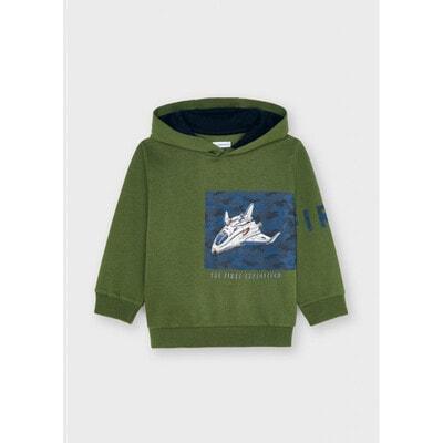 Пуловер, з капюшоном, утеплений, Зелений, Mayoral Іспанія, 22OZ