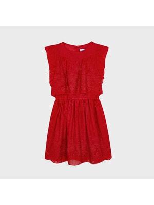 Сукня, з вишивкою, Червоний, Mayoral Іспанія, 21VL