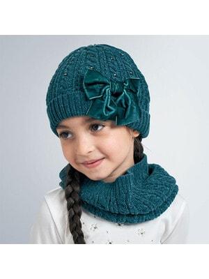 Головний убір Комплект, Шапка + шарф, Зелений, Mayoral Іспанія, 21OZ