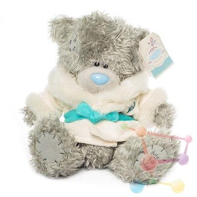 Іграшка М'яка, Ведмедик Тедді в білій шубці з поясом, 23 см, Me To You Великобританія