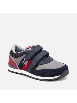 Кросівки, (червоні та сірі вставки), Темно-синій, Mayoral Іспанія, 20OZ