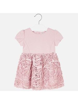 Сукня, короткий рукав, Рожевий, Mayoral Іспанія, 20OZ