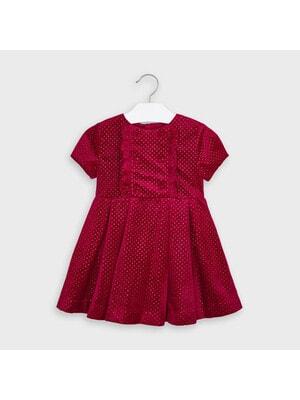 Сукня, короткий рукав, в цяточку, Червоний, Mayoral Іспанія, 21OZ