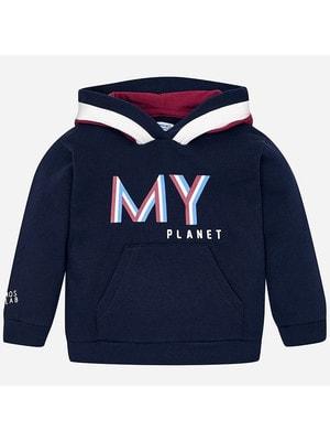 Пуловер, з капюшоном, Темно-синій, Mayoral Іспанія, 20OZ