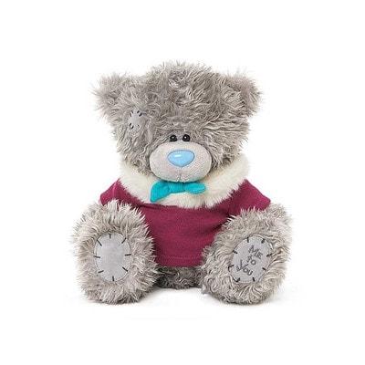 Іграшка М'яка, Ведмедик Тедді в малиновій кофтині, 23 см, Me To You Великобританія